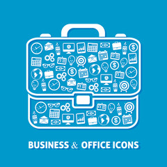 Briefcase office icons