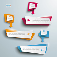 Leaflet Banners With Arrows 3 Options