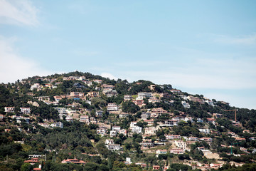 village on the hillside