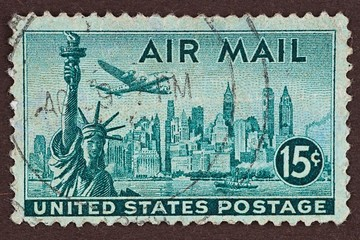 Postage Stamp, New York, Air Mail Stamp