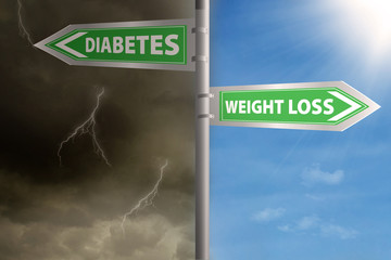 Roadsign to weight loss or diabetes