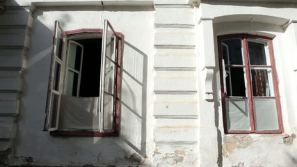 Old Building with two open windows
