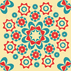 Abstract retro style Seamless Pattern - Illustration