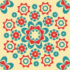 Abstract retro style Seamless Pattern - Illustration