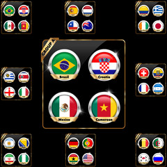 soccer championship 2014 all group teams