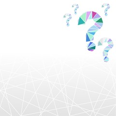 geometric question mark background and symbol in low poly style