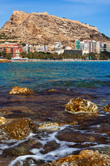 Sea coast in Alicante, Spain