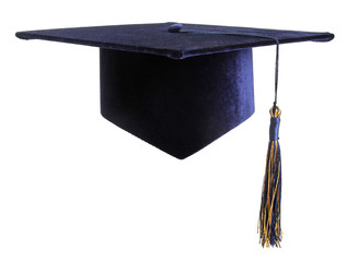 education student cap isolated on white