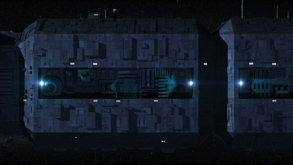 Large Space Ship Motion Background