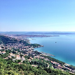 Trieste Italy - Sea and city view