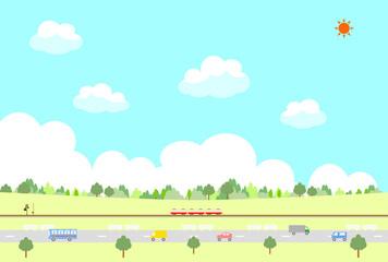 交通と自然