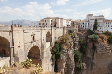 Spain, Rhonda, new bridge and house on the edge of the precipice