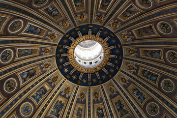 St. Peter's Cathedral dome in Vatican