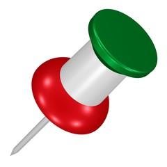 Nadel, Pin in den Farben der italienischen Flagge