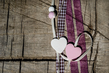 countryside, heart, purple, white, decoration