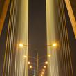 Light from lamp on the bridge.