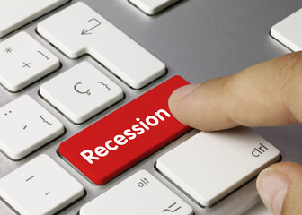 Recession. Keyboard