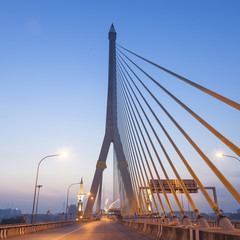 Rama VIII Bridge in the morning