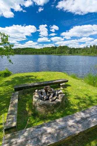 Staande foto Scandinavië Summer adventure in Sweden