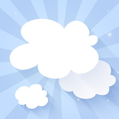 Cloud icon on a blue