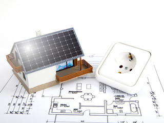 Haus mit Photovoltaik
