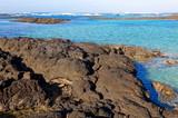 Hardened lava