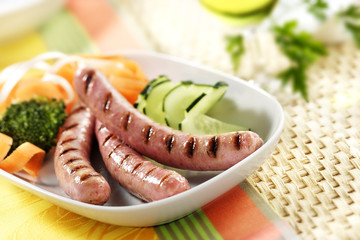 grilled white sausage