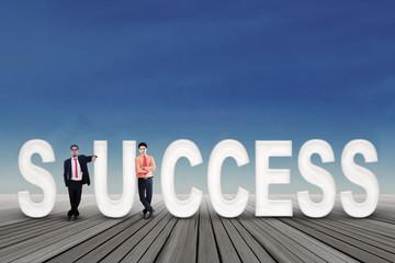 Successful two businessmen