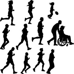 paraplegic person as a runner