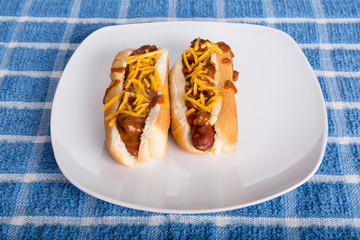 Two Chili Cheese Dogs