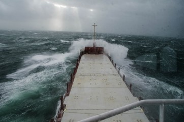 Vessel in hurricane