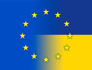 europe urkraine flags