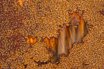 extreme Rusty metal abstract background