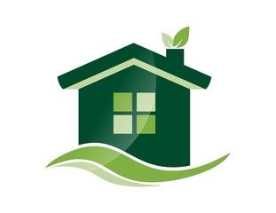house plant logo real estate symbol,gogreen icon