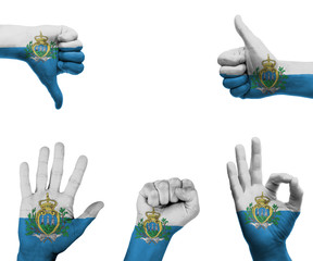 Hand set with the flag of San Marino