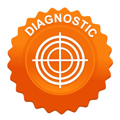 diagnostic sur bouton web denté orange