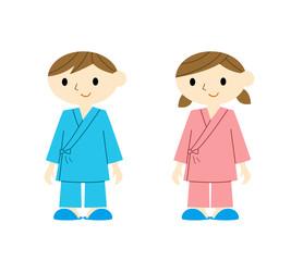 入院着の子供