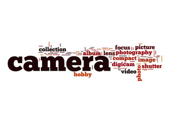 Camera word cloud