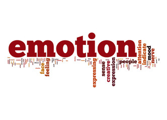 Emotion word cloud