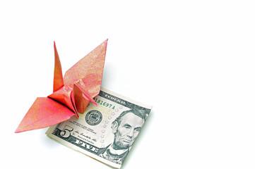 チップを折り紙と共に