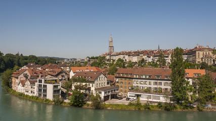 Bern, historische Altstadt, Matte, Mattequartier, Aare, Schweiz