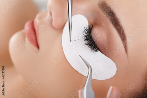 Woman Eye with Long Eyelashes. Eyelash Extension - 66295204