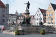 Leinwanddruck Bild - Fontaine d'Augsbourg