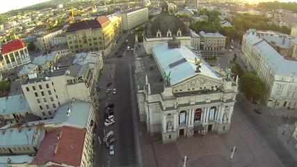 Opera Theatre Lviv Aerial view