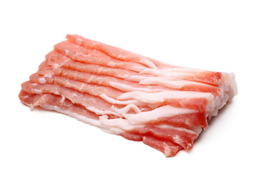 Slices of pork bacon
