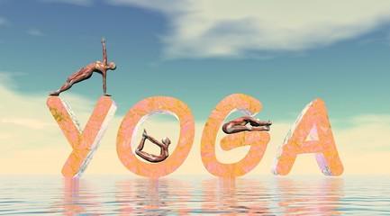 Yoga scene - 3D render