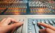 A digital mixing at recording professional studio.