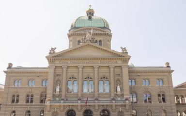 Bern, Altstadt, Bundesplatz, Bundeshaus, Sommer, Schweiz
