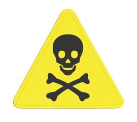 pictogramme danger de mort, produits toxiques