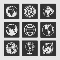 Set symbols globe